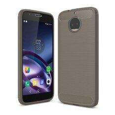 ขาย Lenuo คาร์บอนไฟเบอร์ซิลิโคน Brushed Anti Knock โทรศัพท์มือถือกลับปกคลุม Tpu สำหรับ Motorola Moto G5S Plus Xt1802 Xt1803 Xt1806 จีน ถูก