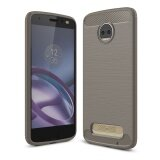 ซื้อ Lenuo Carbon Fiber Silicone Brushed Anti Knock Cell Phone Back Cover Tpu Soft Case For Motorola Moto Z2 Force Intl Lenuo ออนไลน์