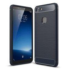 ซื้อ Lenuo Carbon Fiber Silicone Brushed Anti Knock Cell Phone Back Cover Tpu Soft Case For Vivo V7 And Y75 Intl ใหม่