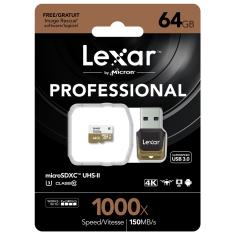 Lexar 64GB Micro SD Professional 1000x (150MB/s)