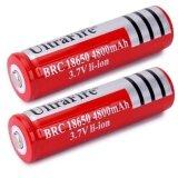ราคา ถ่านชาร์จ Li Ion 18650 Ultrafire 3 7V ความจุ 4800Mah 2ก้อน ใหม่