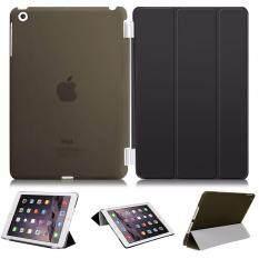Librarycase เคสไอแพดแอร์1 รุ่น Magnetic Smart Cover and Translucent Hard Back Case for Apple iPad Air1 Case (Black/สีดำ)
