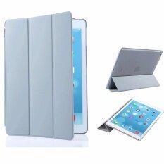Librarycase เคสไอแพดแอร์2 รุ่น Magnetic Smart Cover and Translucent Hard Back Case for Apple iPad Air2 Case (Grey/สีเทา)