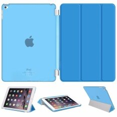 Librarycase เคสไอแพดมินิ4 รุ่น Magnetic Smart Cover and Translucent Hard Back Case for Apple iPad mini4 Case (Blue/สีฟ้า)