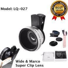 Lieqi รุ่น Lq-027 เลนส์เสริมมือถือ 2 In 1 Super Wide Angle 0.45x & Macro 10x Lens .