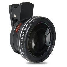 โปรโมชั่น Lieqi Lq 027 ของแท้ 100 Super Wide Macro Angle Selfie Mobile Phone Camera Lens Black Lieqi