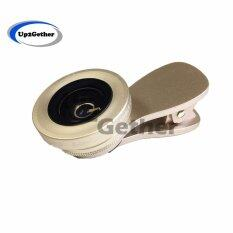 Lieqi Lq-034 Original เลนส์เสริมมือถือ 2in1 Super Wide Angle 0.6x & Macro 15x Lens (gold).