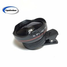 Lieqi Lq-045 [hd] Original เลนส์เสริมมือถือ 2in1 Super Wide Angle 0.6x & Macro 10x Lens (สีดำ).
