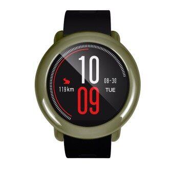 น้ำหนักเบาสมาร์ทนาฬิกาผู้คุ้มครองกรอบป้องกันกรณีที่ครอบคลุมเปลือกป้องกันฝุ่นละอองตัวป้องกันรอยขีดข่วนอุปกรณ์เสริมสำหรับต้นฉบับ Xiaomi huami นาฬิกา Amazfit-นานาชาติ