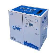 ขาย Link สายแลน Cat 5E ยาว 305เมตร ภายในอาคาร รุ่น Us 9015 Link ถูก