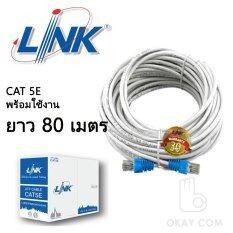 Link UTP Cable Cat5e 80M สายแลนสำเร็จรูปพร้อมใช้งาน ยาว 80 เมตร (White)