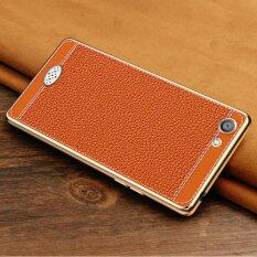 Litchi pattern Back Cover Case For OPPO A57 Brown intl . Source · THB 216