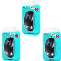 ราคา Logitech Mouse Usb เมาส์คอมพิวเตอร์ทั่วไป รุ่น Lg M100R Black 3 ชิ้น ของแท้ ประกันศูนย์ 3 ปี Logitech