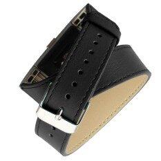ทบทวน Long Leather Band Double Tour Bracelet Watchband For Fitbit Charge 2 Bk Intl