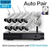 Loosafe 1080P 8Ch Smart Wireless Wifi System Nvr Kits Security Cameras System Indoor Outdoor Surveillance Ip Cameras With Night Vision Easy Remote Access With 6Tb Hard Disk Intl ถูก