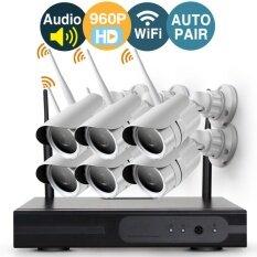 ความคิดเห็น Loosafe Audio Video 6 Channel 960P Wireless Wifi Security Camera System Nvr Kits No Hard Disk With 6Pcs Infrared Outdoor 1 3Megapixel Wifi Ip Cameras Auto Pair Nvr Built In Router Remote Access Intl