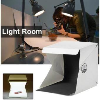 LOV สตูดิโอถ่ายภาพแบบพกพา Light Room 9\ Photography Studio Light Tent Photo Shooting Box ไฟ LED ฉากหลังขาว ดำ (สีขาว)