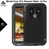 Love Mei Shockproof Dust Dirt Proof Aluminum Metal Gorilla Glass Protection Case Cover For Huawei Mate 10 Pro Intl ใน จีน