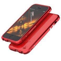 ขาย Luphie Aluminum Metal Frame Bumper Leather Back Case For Iphone 5 5S Se Red Intl ราคาถูกที่สุด
