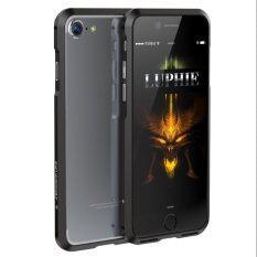 ราคา ราคาถูกที่สุด Luphie บุคลิกภาพกันกระแทกกรอบอลูมิเนียมกันชนกรณีกรอบสำหรับ Iphone 7 สีดำ