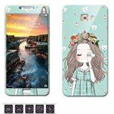 ขาย ซื้อ Luxury 3D Painting Front Back Full Case Cover Color Tempered Glass Case For Samsung Galaxy C9 Pro C9Pro C9000 6 Inch Screen Protector Film Multicolor 21 Intl ใน จีน