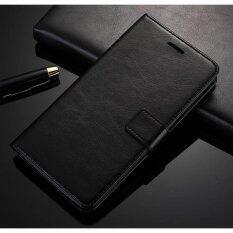 ขาย Luxury Flip Leather Wallet Case For Asus Zenfone 3 Ze520Kl 5 2 With Hd Screen Protector Black Intl