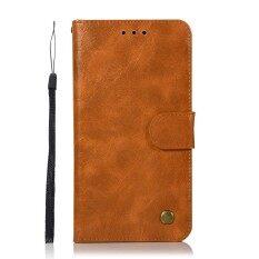ขาย ซื้อ Luxury Leather Case For Samsung Galaxy J7 Prime Vintage Wallet Phone Case Stand Shockproof Card Slots Filp Cover Chili Red Intl