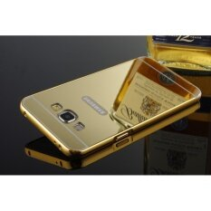 Luxury Mirror Bumper Anti Scratch Bright Protective Case For Samsung Galaxy A7 2015 Gold Intl ถูก