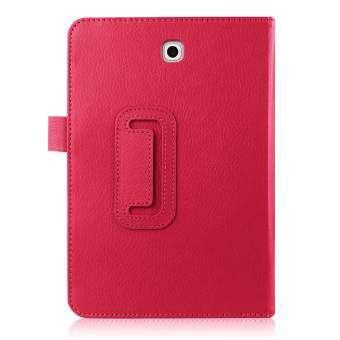 หนังลิ้นจี่สมาร์ทสำหรับ Samsung Galaxy Tab S2 8.0 T715 T710 (สีดำ)-