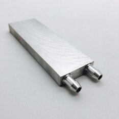 บล็อคน้ำระบายความร้อน สามารถนำไปใช้กับแผ่น เพลเทีย Peltier ได้ 3-6 แผ่น Aluminum Water Cooling Block Heat Sink for CPU 120X40X12mm