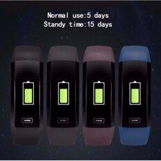 ราคา M2 เครื่องวัดความดันโลหิตนาฬิกาเครื่องวัดชีพจรหน้าจอ Cardiaco สมาร์ทฟิตเนส Smartband Vs ไมล์วงดนตรี 2 Fitbits พอดี นานาชาติ Unbranded Generic ใหม่