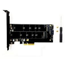 M.2 SATA / PCIe NVMe adapter ( พร้อมชุดน็อต/ไขควง)