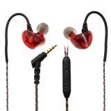 โปรโมชั่น M7 ชนิดใส่ในหูสเตอริโอหูฟังด้วยการควบคุมสายไมโครโฟน สีแดง Vakind