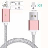 ความคิดเห็น Magnetic Clip On Usb Fast Charging And High Speed Data Transmission Sync Braided Wire 3 In 1 Magnetic Lightingmicro Usbtype C Mini Metal Connector For Ios Or Android(1 Magnetic Charging Data Cable And 3 Micro Usb Connector) Intl
