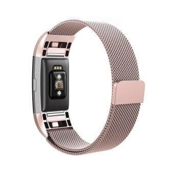 สายนาฬิกา สายคล้องข้อมือสแตนเลส สำหรับ Fitbit Charge2
