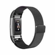 สายนาฬิกา สายแบบแม่เหล็ก สำหรับ Fitbit Charge 2 Tracker Blackสายนาฬิกา สายแบบแม่เหล็ก สำหรับ Fitbit Charge 2 Tracker Black