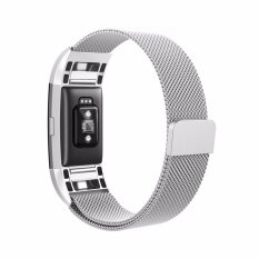 Magnetic Milanese Stainless Watch Band Strap For Fitbit Charge 2 Tracker Silver By Xcsource Thailand.