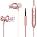 ขาย Magnetism Wired Earbuds Bass Stereo In Ear Headphone Earphone Sports Sweatproof Headset With Microphone For Iphone 6 5 Samsung Galaxy Tab Rose Gold Intl