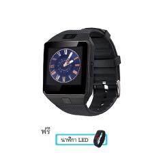Maker นาฬิกาโทรศัพท์ Smart Watch รุ่น DZ09 Phone Watch(Black) แถมฟรี นาฬิกา LED ระบบสัมผัส