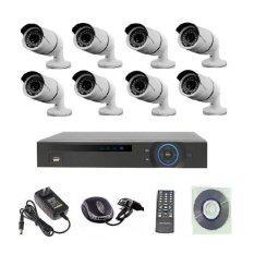 Mastersat ชุดกล้องวงจรปิด CCTV  IP Camera 1.3 MP 8 จุด ระบบ NVR  15V. เดินสายแลนอย่างเดียว (ใช้ POE Switch 9 ports)