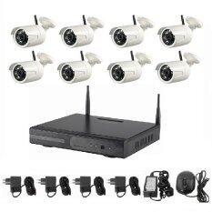 Mastersat กล้องวงจรปิด Wireless IP Camera 8 กล้อง 1 MP 720P NVR kit ไม่ต้องเดินสายแลน ติดตั้งได้เอง  IPWI008