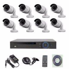 Mastersatชุดกล้องวงจรปิดCCTV IP Camera 1.3 MP 8จุด มีระบบNVR POEในตัว(ไม่ใช้POE Switch ) 48V.ใช้ได้ไกล100เมตร(Black)