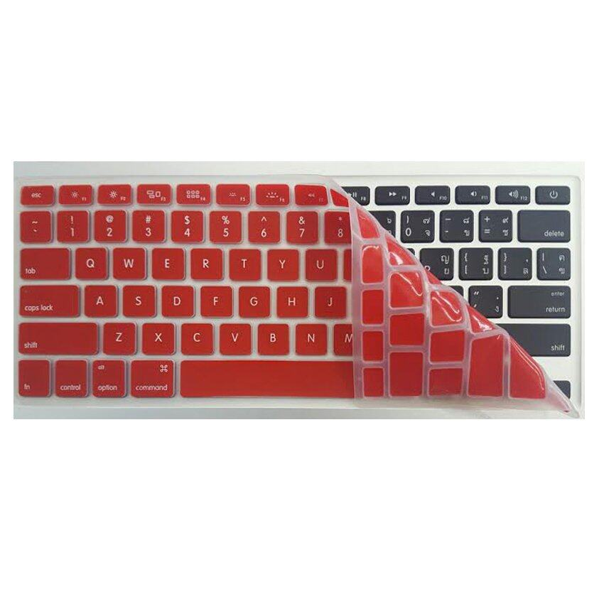 MAXSYS Keyboard Skin Protector Cover Guard For Apple Macbook Pro 13inch Red