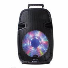 MC Rock ลำโพงเคลื่อนที่ขนาด 15 นิ้วพร้อมรีโมทและไมค์ลอย 2 ตัวรุ่น DHT-730DF (A15) รองรับ FM,MP3,USB,Karaoke,ฺBluetooth ชาร์ตไฟได้ ใช้ได้นาน 4-5 ชม. (ผ่อน 0% นาน 10 เดือน)