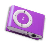 ขาย Md Mini Clip Mp3 Player Music Speaker เครื่องเล่น Mp3 ขนาดพกพา สีม่วง ราคาถูกที่สุด