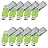 ซื้อ Meco 10Pcs 2Gb Usb 2 Flash Drive Memory Stick Fold Storage Thumb Stick Pen Swivel Design Green Pen Drive Pendrive Intl ออนไลน์