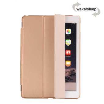 MEGA Luxury PU Leather Ultra Slim Smart Magnetic Wake/Sleep Flip Pad Cover + Translucent Protect Cas-