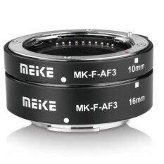 Meike Mk-F-Af3a ท่อมาโคร Auto Focus สำหรับกล้อง Fuji เมาว์เหล็กแข็งแรง.