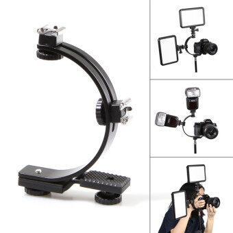 ค รูปทรงแฟลช Meking คู่รองเท้าร้อนวงเล็บสำหรับกล้องวีดีโอ dv ที่แสงแฟลชทริกเกอร์ (สีดำ)-