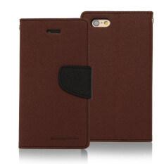 ราคา Mercury Fancy Diary Case สำหรับ Iphone 6 6S Brown ปทุมธานี